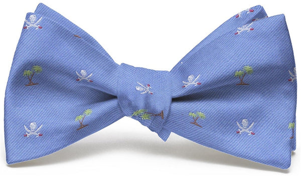 Bird Dog Bay Jolly Roger English Woven Pedigree Bow Tie in Blue