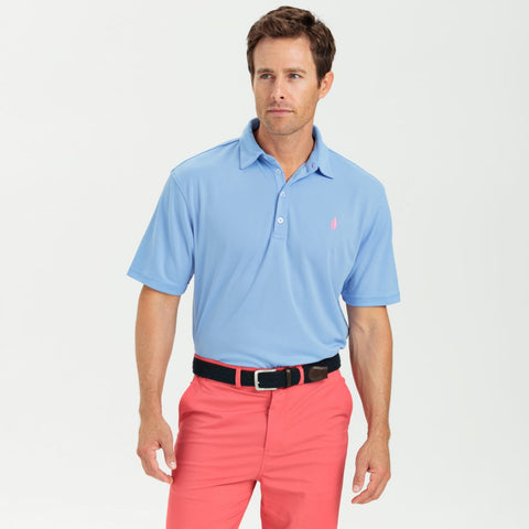 Johnnie-O Fairway Prep-Formance SS Polo Shirt in Vista Blue