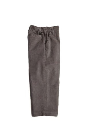Bella Bliss Wide Wale Corduroy Faux Zip Pant in Slate