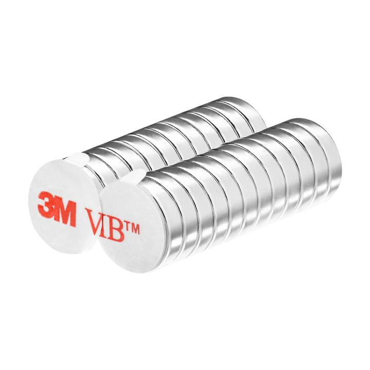 Strong Neodymium Disc Magnets with 3M Adhesive