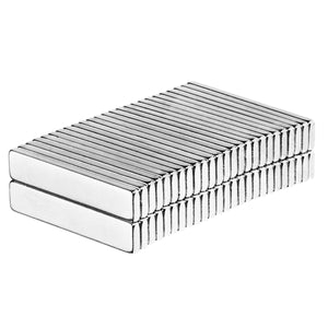 3/4 x 3/16 x 1/16 Inch Neodymium Rare Earth Block Magnets N52 (65 Pack)