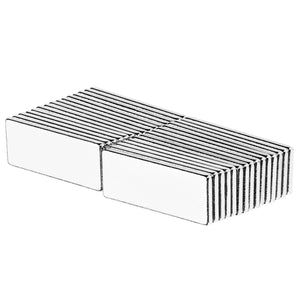 1 x 3/8 x 1/16 Inch Neodymium Rare Earth Block Magnets N52 (30 Pack)