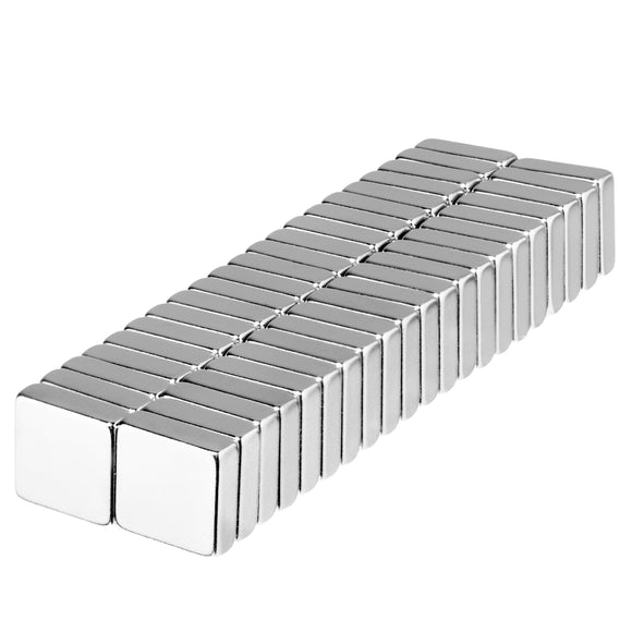 3/8 x 3/8 x 1/8 Inch Neodymium Rare Earth Block Magnets N52 (42 Pack)