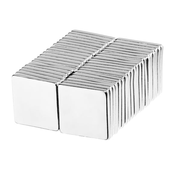 1/2 x 1/2 x 1/16 Inch Neodymium Rare Earth Block Magnets N52 (40 Pack)
