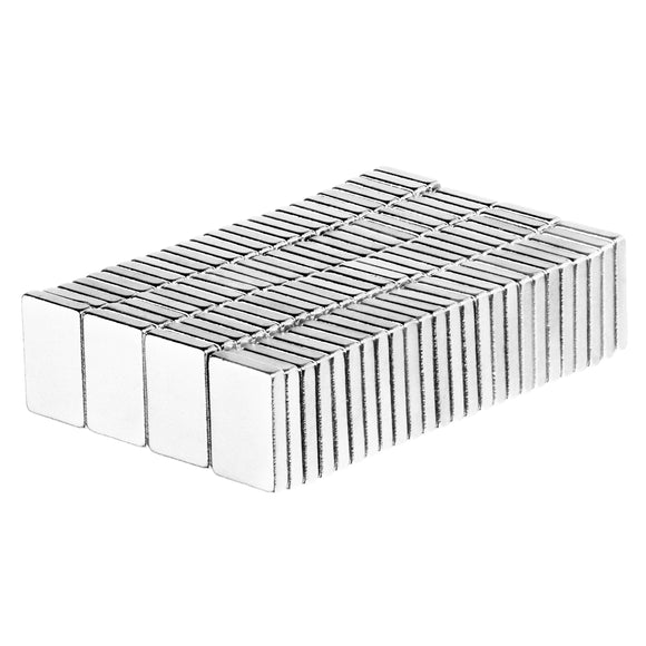3/8 x 1/4 x 1/16 Inch Neodymium Rare Earth Block Magnets N52 (100 Pack)