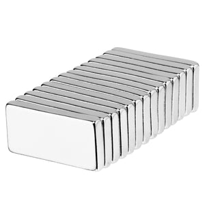 1 x 1/2 x 1/8 Inch Strong Neodymium Rare Earth Block Magnets N42 (14 Pack)