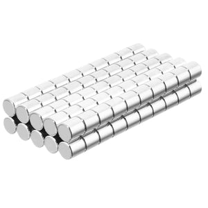 3/16 x 3/16 Inch Neodymium Rare Earth Cylinder Magnets N48 (100 Pack)