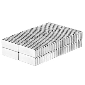 1/2 x 3/16 x 1/16 Inch Neodymium Rare Earth Block Magnets N52 (100 Pack)