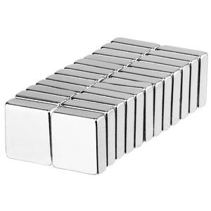 1/2 x 1/2 x 1/8 Inch Neodymium Rare Earth Block Magnets N52 (24 Pack)