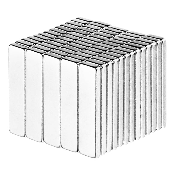 1 x 3/16 x 1/16 Inch Neodymium Rare Earth Block Magnets N52 (50 Pack)