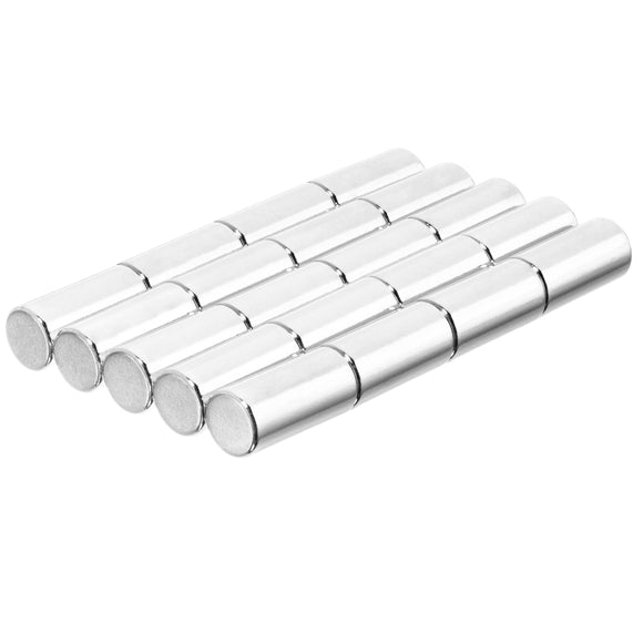 1/4 x 1/2 Inch Neodymium Rare Earth Cylinder/Rod Magnets N52 (20 Pack)