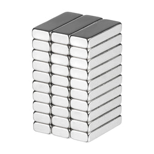 3/4 x 1/4 x 1/8 Inch Neodymium Rare Earth Bar Magnets N48 (30 Pack)