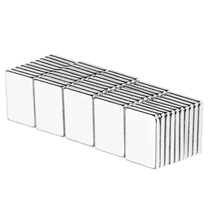1/2 x 3/8 x 1/16 Inch Neodymium Rare Earth Block Magnets N52 (50 Pack)