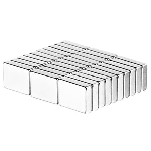 1/2 x 3/8 x 1/8 Inch Neodymium Rare Earth Block Magnets N52 (30 Pack)