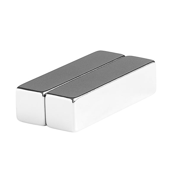 2 x 1/2 x 1/2 Inch Neodymium Rare Earth High Temperature Bar Magnets N42SH (2 Pack)