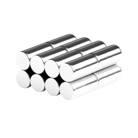 1/4 x 1/2 Inch Neodymium Rare Earth Cylinder/Rod Magnets N52 (16 Pack)