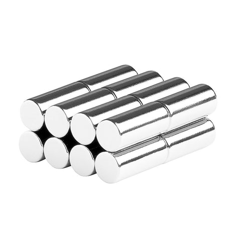 1/4 x 9/16 Inch Neodymium Rare Earth Cylinder/Rod Magnets N52 (16 Pack)