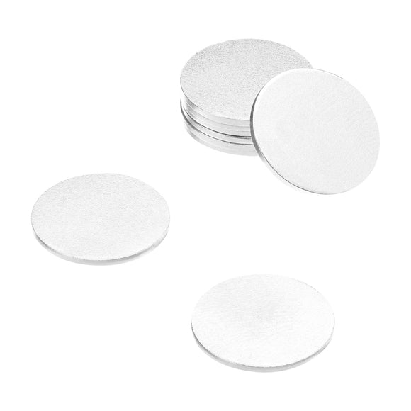 3/8 Inch Steel Disc, Blank Metal Strike Plates (250 Pack)