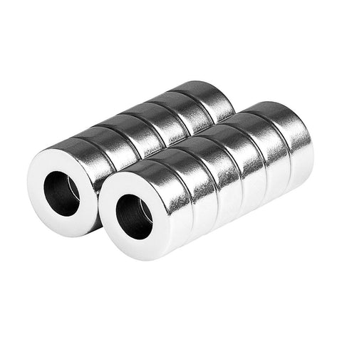 5/8 x 5/16 x 1/4 Inch Strong Neodymium Rare Earth Ring Magnets N35 (12 Pack)