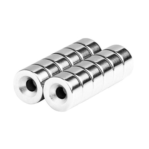 1/2 x 1/4 Inch Neodymium Rare Earth Countersunk Ring Magnets N52 (12 Pack)