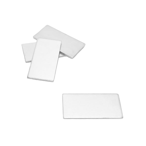 1 x 1/2 Inch Steel Block, Blank Metal Strike Plates (150 Pack)