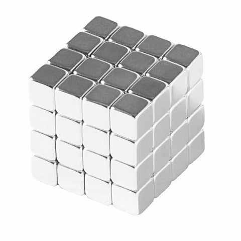 totalElement 1/4 Inch Neodymium Rare Earth Cube Magnets N48 (64 Pack)