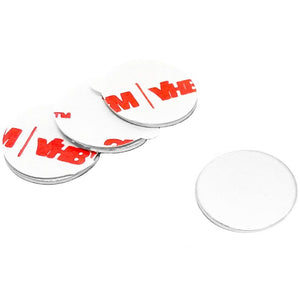 1.25 Inch Steel Disc with 3M Adhesive, Blank Metal Strike Plates (36 Pack)