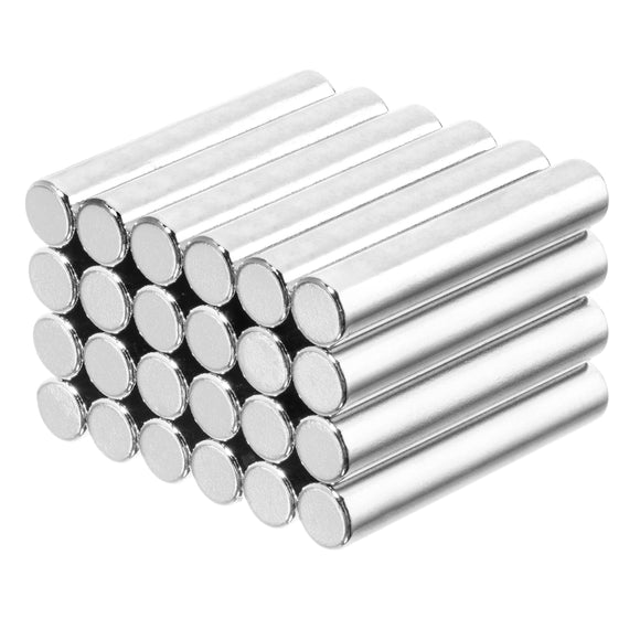 3/16 x 1 Inch Neodymium Rare Earth Cylinder Magnets N42 (24 Pack)