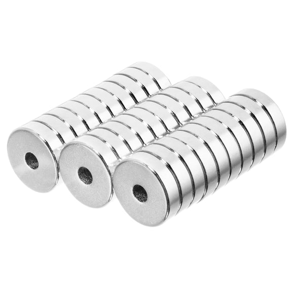 1/2 x 1/8 x 1/8 Inch Neodymium Rare Earth Ring/Donut Magnets N42 (30 Pack)