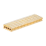 1/10 x 2/10 Inch Neodymium Rare Earth Cylinder/Rod Magnets Gold Coated N52 (100 Pack)