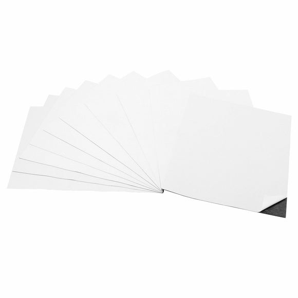 8 x 10 Inch Strong Flexible Self-Adhesive Magnetic Sheets Peel & Stick Refrigerator Magnet Sheets (10 Pieces)