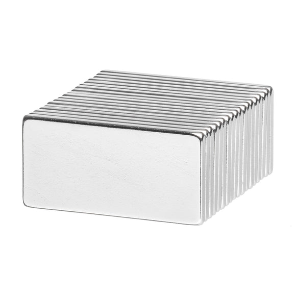 1 x 1/2 x 1/16 Inch Neodymium Rare Earth Bar Magnets N52 (18 Pack)
