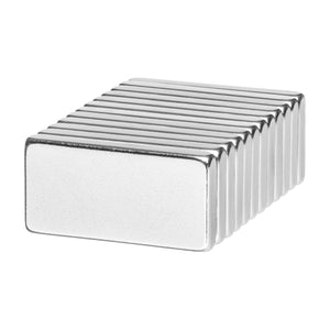 1 x 1/2 x 1/8 Inch Strong Neodymium Rare Earth Block Magnets N42 (12 Pack)