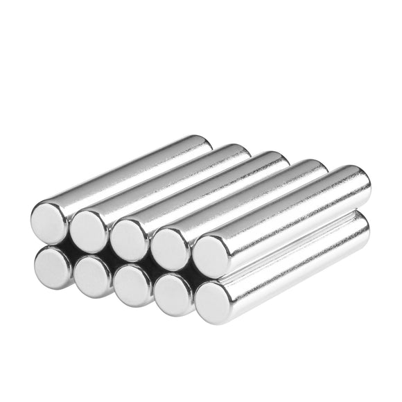 1/4 x 1.50 Inch Neodymium Rare Earth Cylinder/Rod Magnets N42 (10 Pack)