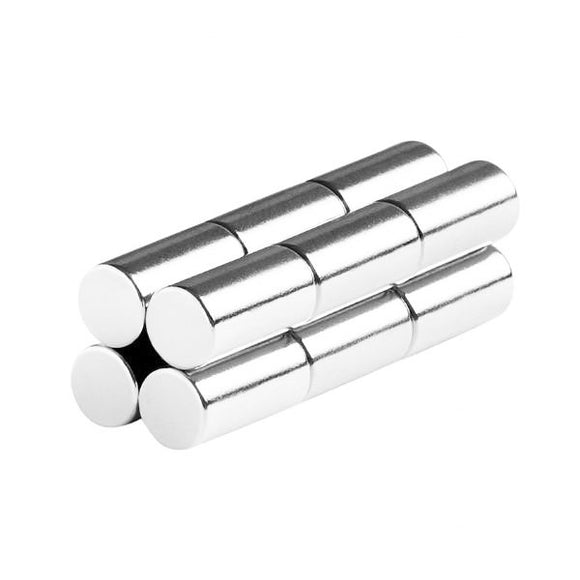 1/4 x 1/2 Inch Neodymium Rare Earth Cylinder/Rod Magnets N48 (12 Pack)
