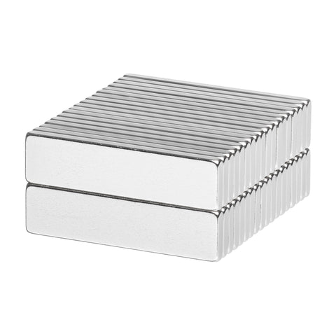 1 x 1/4 x 1/16 Inch Neodymium Rare Earth Bar Magnets N52 (36 Pack)