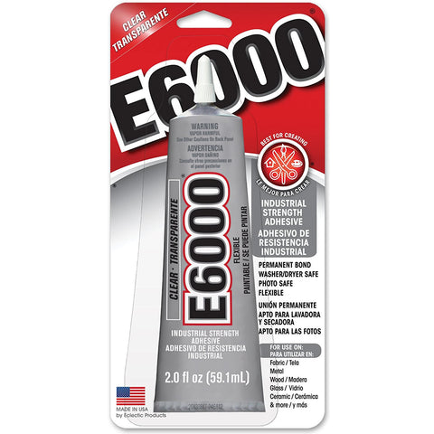 E6000 Permanent Craft Industrial Strength Adhesive 2oz (Clear)