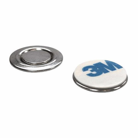 totalElement Small Round Magnetic Fastener/ID Badge Holder with 3M Adhesive (10 Pack)