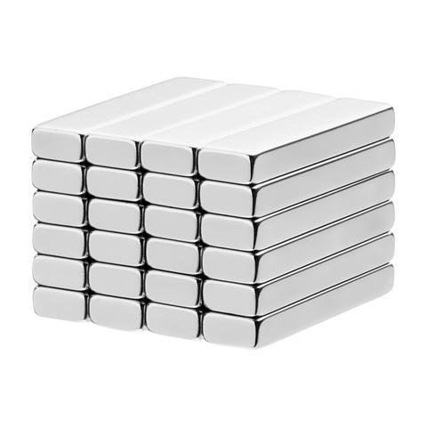 1 x 1/4 x 1/8 Inch Neodymium Rare Earth Bar Magnets N42 (24 Pack)