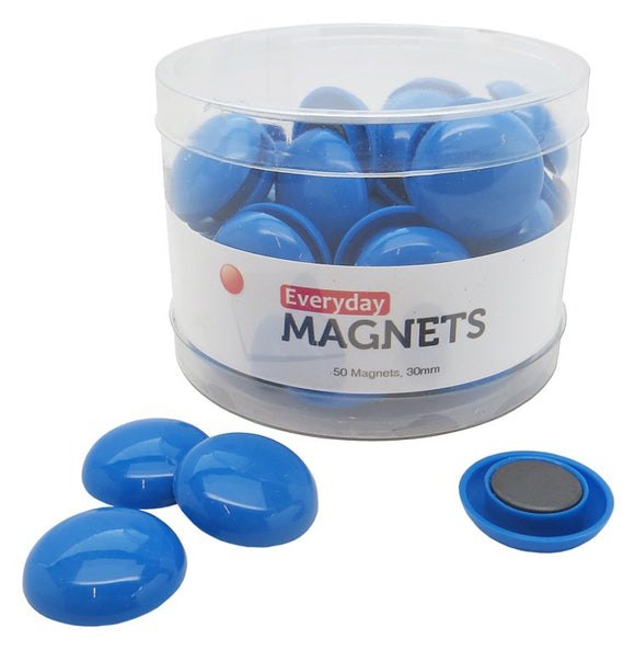 totalElement 30mm Blue Plastic Refrigerator Magnets (50 Pack)