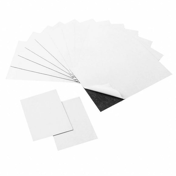 4 x 6 and 2 x 3 Strong Flexible Self-Adhesive Magnetic Sheets, Peel & Stick Refrigerator Magnet Sheets for Photos and Art (14 Pieces)