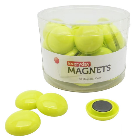 totalElement 30mm Lime Green Plastic Refrigerator Magnets (50 Pack)