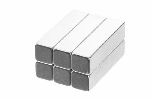 totalElement 1 x 1/4 x 1/4 Inch Neodymium Rare Earth Bar Magnets N48 (Magnetized through Thickness) (6 Pack)
