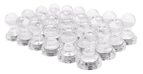 Small Clear Translucent Magnetic Push Pins (24 Pack)