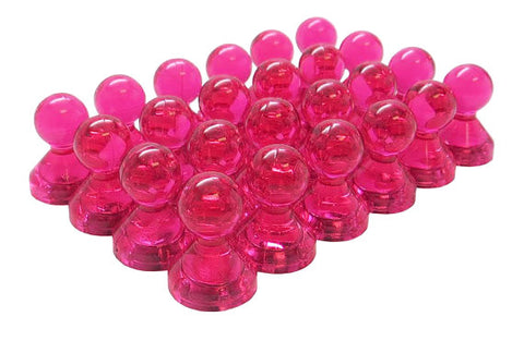 Small Pink Translucent Magnetic Push Pins (24 Pack)