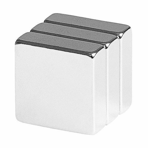 3/4 x 3/4 x 1/4 Inch Neodymium Rare Earth Block Magnets N48 (3 Pack)