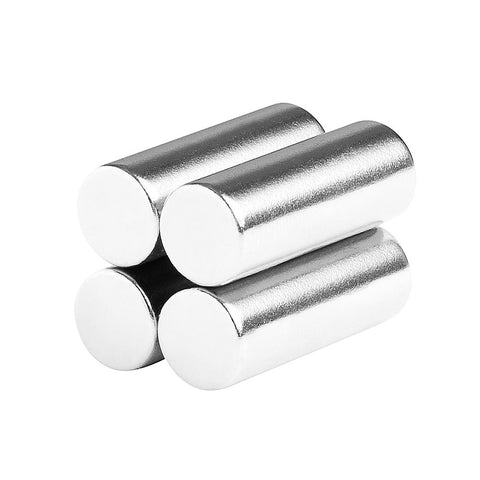 3/8 x 1 Inch Strong Neodymium Rare Earth Cylinder/Rod Magnets N52 (4 Pack)