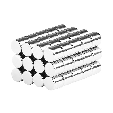3/16 x 3/16 Inch Neodymium Rare Earth Cylinder Magnets N48 (60 Pack)