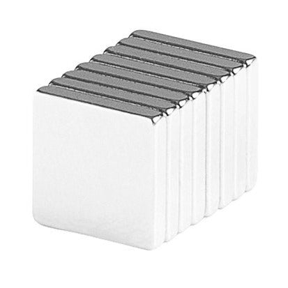 3/4 x 3/4 x 1/8 Inch Neodymium Rare Earth Large Block Magnets N48 (8 Pack)