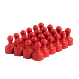 Strong Heavy-Duty Red Plastic Magnetic Push Pins (24 Pack)